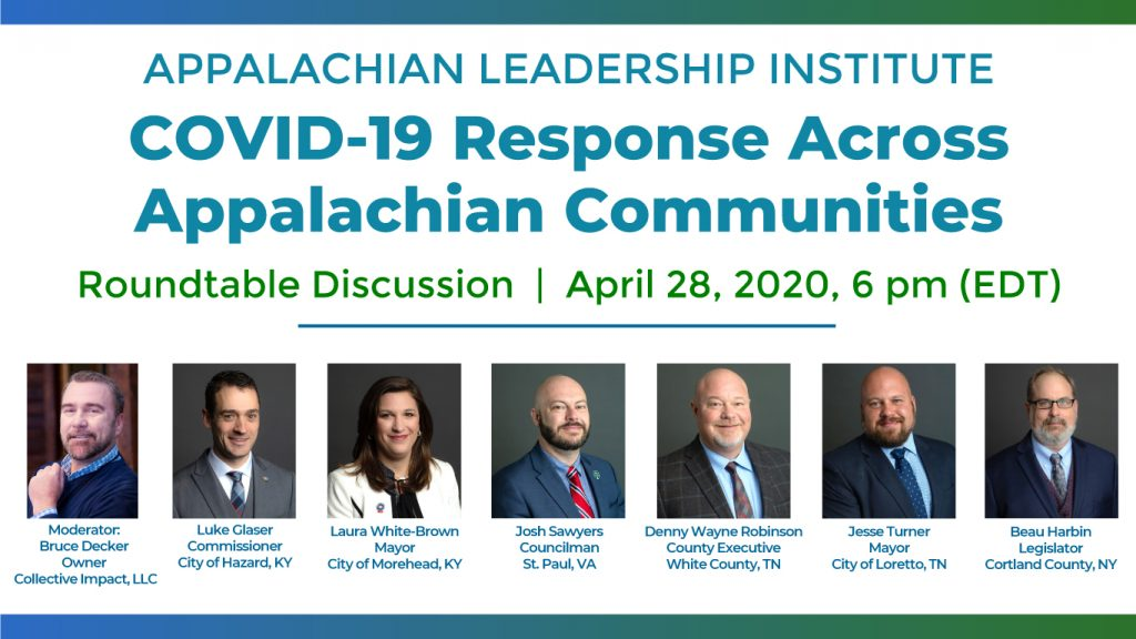 Appalachian Leadership Institute hosts COVID-19 Response Across Appalachian Communities
